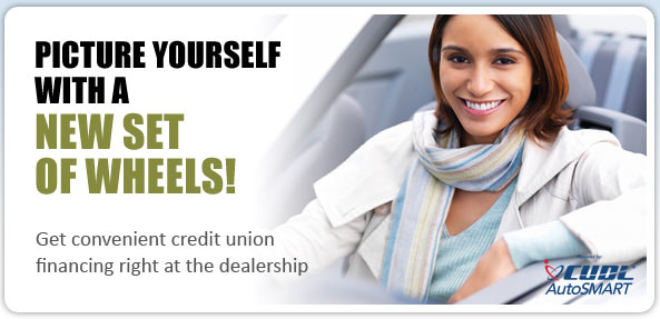 Picture yourself with a new set of wheels! Get convenient credit union financing right at the dealership.